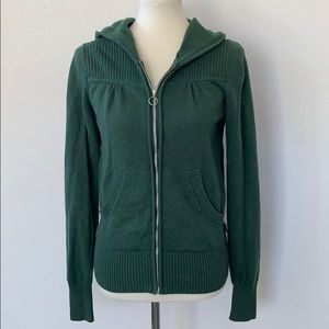 The North Face Woman Zip Up Hooded Sweater Green